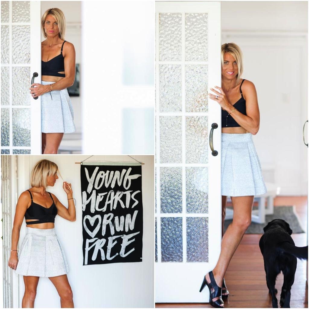 Nik white skirt black top